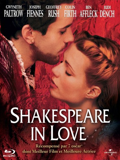 sortie vod, dvd et blu-ray Shakespeare in Love
