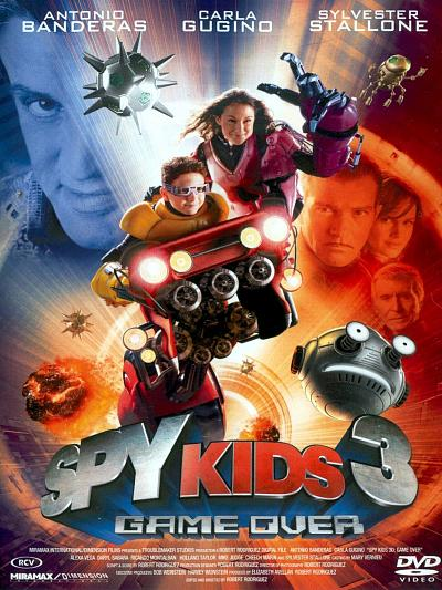 sortie vod, dvd et blu-ray Spy kids 3 - game over