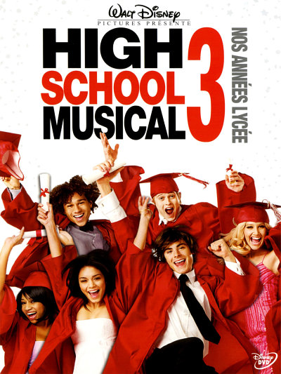 sortie vod, dvd et blu-ray High School Musical 3 - nos années lycée