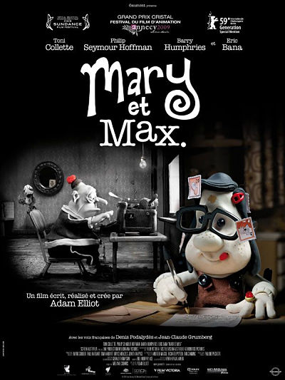 sortie vod, dvd et blu-ray Mary et Max