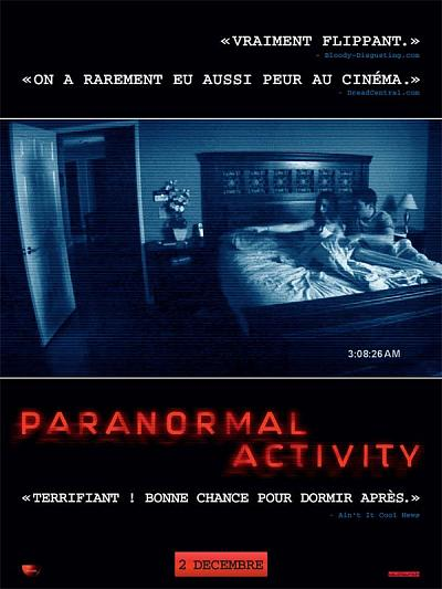 sortie vod, dvd et blu-ray Paranormal Activity
