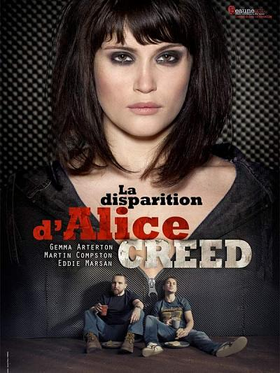 sortie vod, dvd La Disparition d'Alice Creed