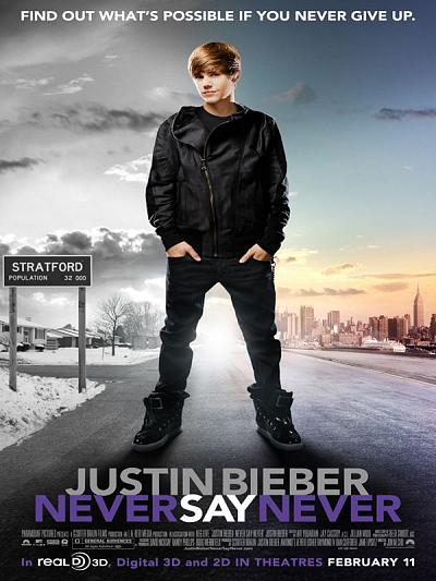 sortie vod, dvd Justin Bieber - Never Say Never