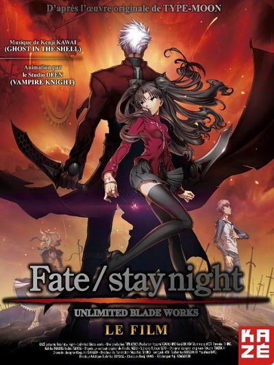 sortie dvd et blu-ray Fate stay night - le Film