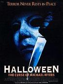 affiche sortie dvd halloween 6 - la malediction de michael myers