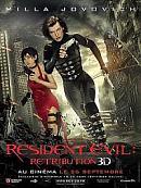 affiche sortie dvd resident evil - retribution