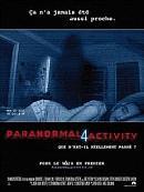 affiche sortie dvd paranormal activity 4
