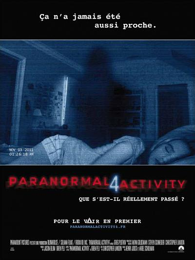sortie vod, dvd et blu-ray Paranormal Activity 4