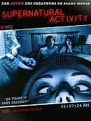 sortie dvd Supernatural Activity