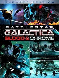 affiche sortie dvd battlestar galactica - blood & chrome