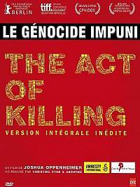 affiche sortie dvd the act of killing - l'acte de tuer