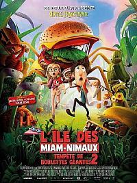 affiche sortie dvd tempete de boulettes geantes 2 - l'ile des miam-nimaux