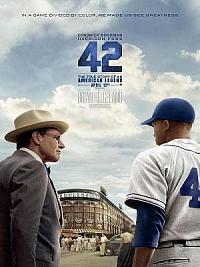 affiche sortie dvd 42 - l'histoire vraie d'une legende du sport