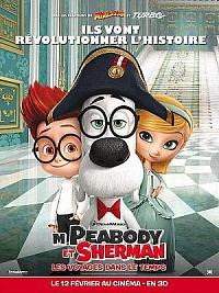 affiche sortie dvd m. peabody et sherman - les voyages dans le temps