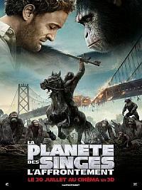 affiche sortie dvd la planete des singes - l'affrontement