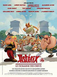 affiche sortie dvd asterix - le domaine des dieux