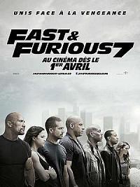 affiche sortie dvd fast & furious 7