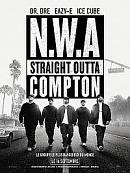 affiche sortie dvd n.w.a - straight outta compton