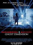 affiche sortie dvd paranormal activity 5 - ghost dimension