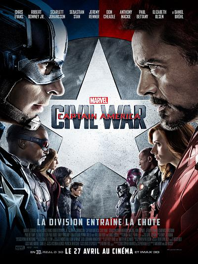 sortie vod, dvd et blu-ray Captain America - Civil War