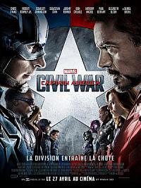 affiche sortie dvd captain america - civil war