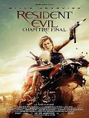 affiche sortie dvd resident evil - chapitre final