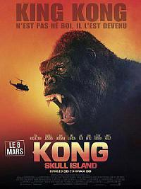 affiche sortie dvd kong: skull island
