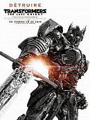 affiche sortie dvd Transformers 5 - The Last Knight