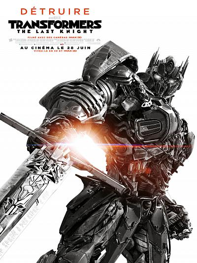 sortie vod, dvd et blu-ray Transformers 5 - The Last Knight