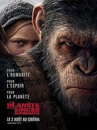 affiche sortie dvd la planete des singes - suprematie