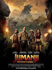 affiche sortie dvd jumanji - bienvenue dans la jungle