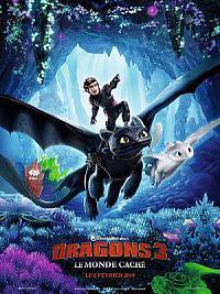 affiche sortie dvd dragons 3 - le monde cache