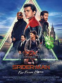 affiche sortie dvd spider-man - far from home